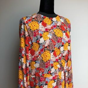 Zara Long Sleeve Floral Dress